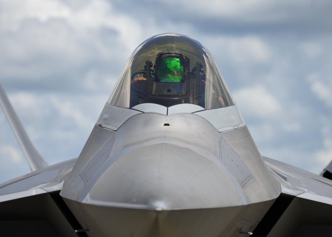 A 95th Fighter Squadron F-22 Raptor from Tyndall Air Force Base, Fla., prepares to receive fuel from a forward area refueling point in conjunction with exercise Stealth Guardian at Moody Air Force Base, Ga., Aug. 10, 2017. Stealth Guardian is designed to demonstrate the Air Force's ability to quickly deploy F-22 assets at a moment's notice while showcasing the ability to establish flying operations in a combat or contingency environment.