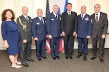 Pictured left to right are Mrs. Nataša Mikuž and Col. Ivo Mikuž, Military Attaché from the Slovenian Embassy in Washington DC, Col. Nicholas Broccoli and Brigadier General Thomas J. Owens II of the New York Air National Guard, President Borut Pahor of Slovenia and Chief Master Sergeant Michael Hewson also of the New York Air National Guard . All were present for the awarding of the Slovenian Medal for Merit in the military field by the May 21, 2017. The ceremony took place at the Permanent Mission of the Republic of Slovenia office to the United Nations, New York. The medals given to the 102nd and 103rd rescue squadrons of the 106th Rescue Wing for thier international rescue mission to render aid to crew members injured in an explosion on board the motor vessel Tamar that began on April 24th. (U.S. Air National Guard Photo by Capt Michael O'Hagan)