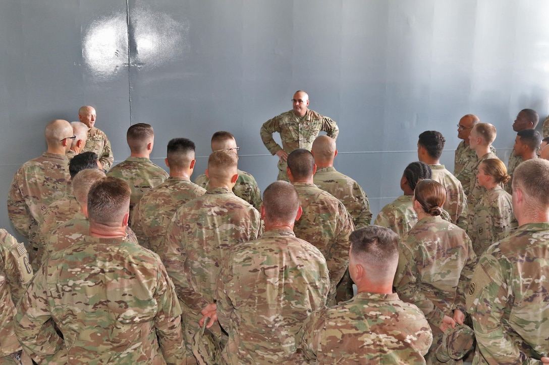 Army Reserve Senior Enlisted visits deployed troops