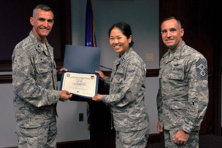 Curry received recognition for providing dental care and health education to active duty service members, families and the local community.