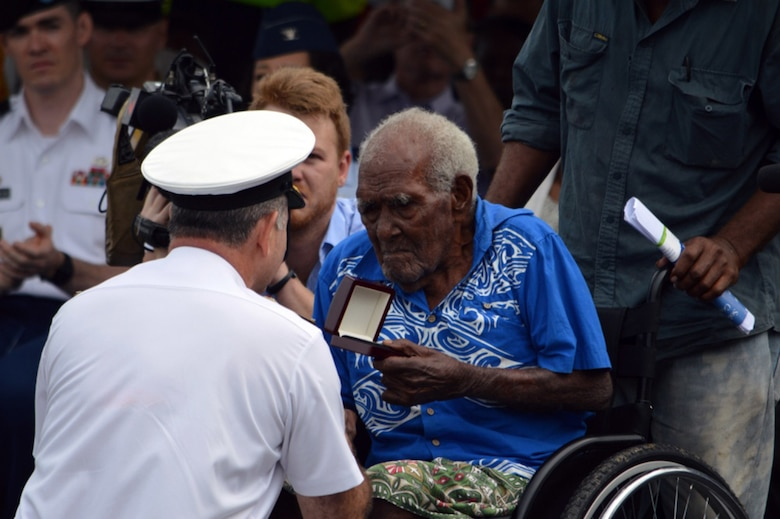 Carrier Air Wing Five Squadrons Conduct Heritage Flight Over Solomon Islands