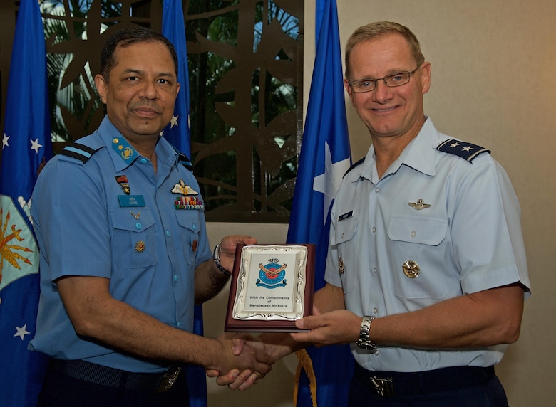U.S., Bangladesh Airmen increase interoperability during talks