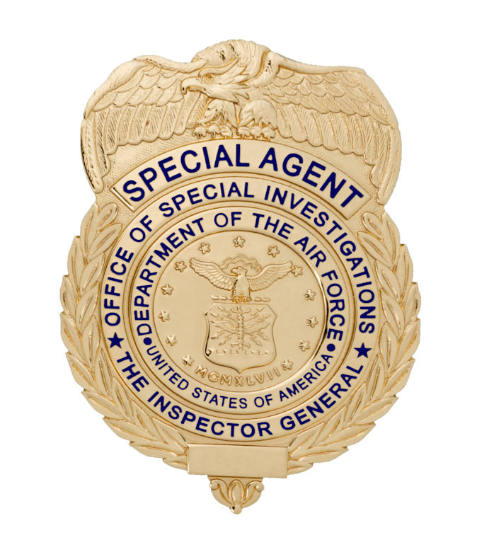 The Air Force Office of Special Investigations (AFOSI) needs your help in identifying and reporting fraudulent activities.  (U.S. Air Force courtesy graphic)