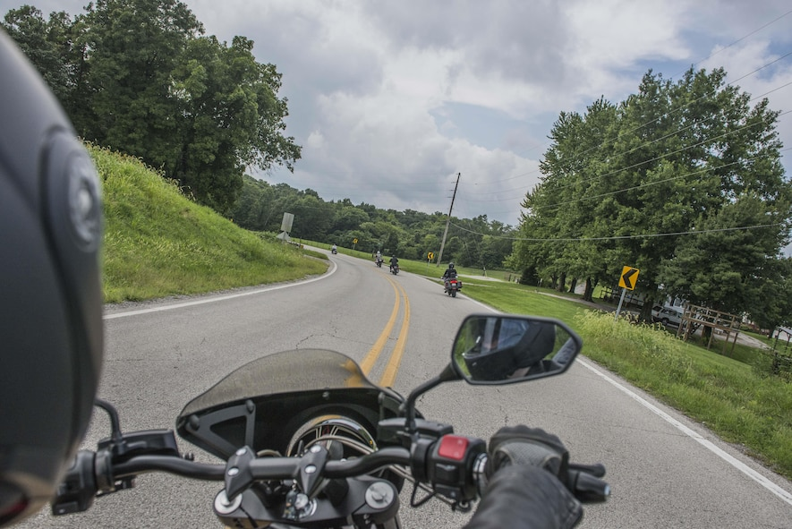 The 375th Air Mobility Wing Safety Office hosted a Motorcycle Safety Day event on Aug. 11. Those who attended fulfilled the mandatory five year requirement.(U.S. Air Force photo by Airman 1st Class Daniel Garcia)