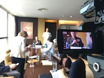 Marine Corps Gen. Joe Dunford, the chairman of the Joint Chiefs of Staff, speaks with media in Beijing