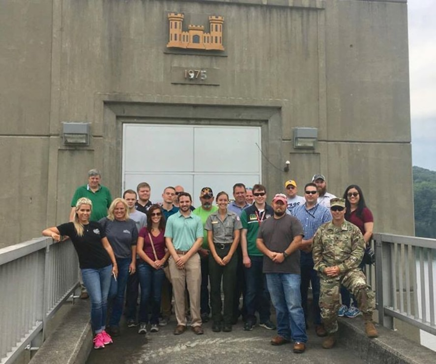 The Huntington District held its first New Employees Orientation on Tuesday, Aug. 1, 2017, and will conduct it quarterly moving forward. The orientation included a USACE and District overview from Col. Philip Secrist as well as site visits to Beech Fork Lake and to Robert C. Byrd Locks and Dam. The group included 18 new employees from the field and district office and new Deputy District Commander, Lt. Col. William Miller.