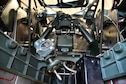 DAYTON, Ohio (Aug. 16, 2017) -- An interior view of the upper turret of the B-17F Memphis Belle™ in the museum's restoration hangar. Plans call for the aircraft to be on public display here at the National Museum of the U.S. Air Force on May 17, 2018. (U.S. Air Force photo by Ken LaRock)