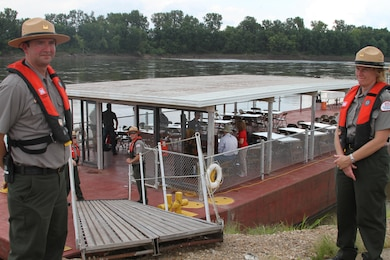 The U.S. Army Corps of Engineers, Kansas City District, hosted a stakeholder barge tour on the Missouri River Wednesday, August 16, 2017.