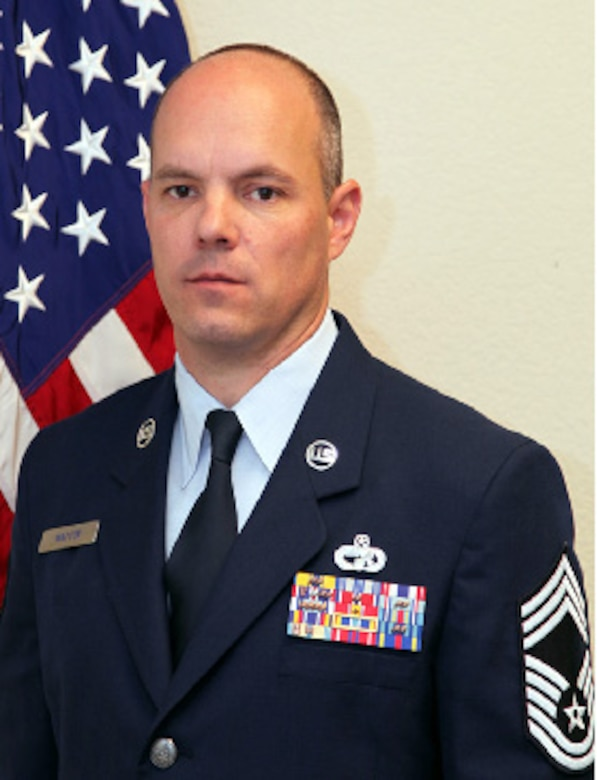 Chief Master Sgt. Jayson J. Watson, 45th Aerial Port Squadron, shares some insight about leadership and how a former chief master sergeant with 36 years of service influeneced him. (Courtesy Photo)