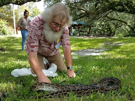 Dr. Jan Hoover of the U.S. Army Engineer Research and Development Center attended the Everglades Invasive Species Summit in Davie, Florida July 26-27. Hoover, a research fisheries biologist in ERDC's Environmental Laboratory, received training from professional python hunters on the capture of large invasive snakes.