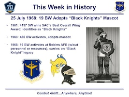 The original black knight of the 4137th Strategic Wing (not the one composed of papier-mâché).