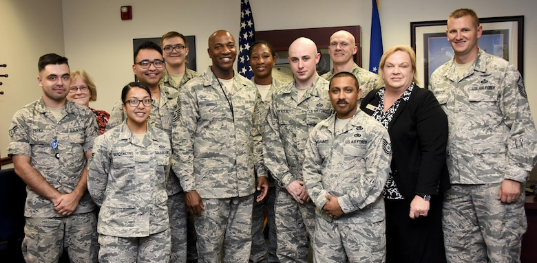 CMSAF Kaleth O. Wright visits 70th ISRW Airmen