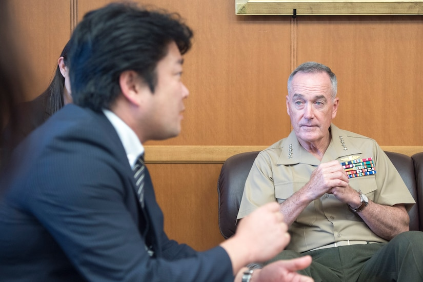 Joint Chiefs chairman talks with Japanese defense minister.