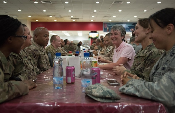 Wilson traveled with Air Force Chief of Staff Gen. David L. Goldfein, visiting deployed Airmen assigned to the U.S. Central Command area of responsibility.