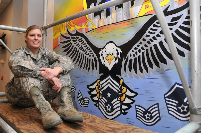 photo of artist, Senior Airman Stapf