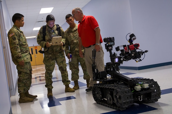 Soldiers from the Hawaii National Guard's 93rd Weapons of Mass Destruction Civil Support Team receive hands-on training.