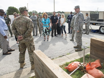 A honorary commanders' tour was hosted Aug. 16, 2017, at Joint Base San Antonio-Lackland, Texas.