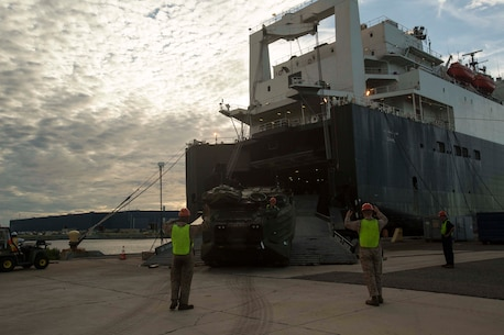 Marines from II Marine Expeditionary Force units are participating in Maritime Prepositioning Force Exercise 17, which is part of an upcoming amphibious exercise.