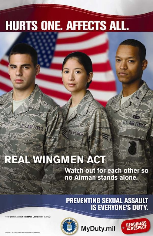 U.S. Air Force Sexual Assault Prevention Poster