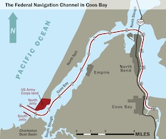 The Federal Navigation Channel in Coos Bay