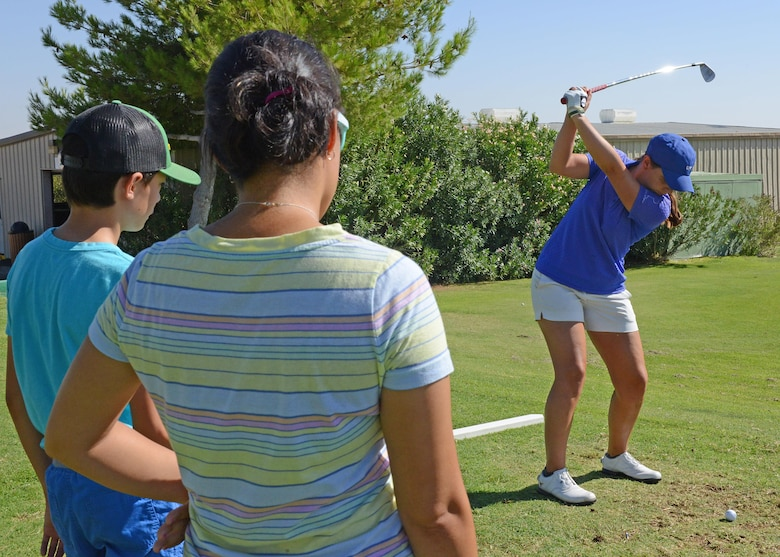 Professional golfer Katelyn Sepmoree was invited to drop by Muroc Lake Golf Course and conduct some one-on-one lessons Aug. 18-19. Sepmoree is a Ladies Professional Golf Association player who played college golf at the University of Texas.