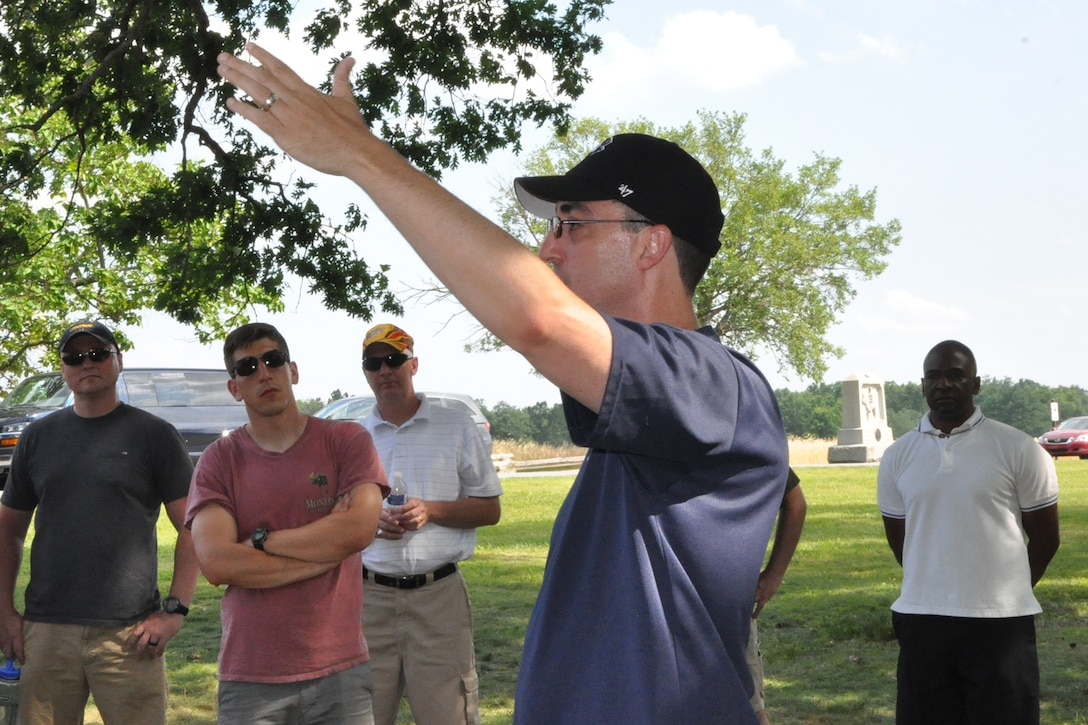 A small group of such people assigned to the Air Force Reserve's 910th Airlift Wing traveled from Youngstown Air Reserve Station, Ohio, June 30 – July 2, to Gettysburg National Military Park, seeking knowledge that perhaps only the ghosts of the past can impart.