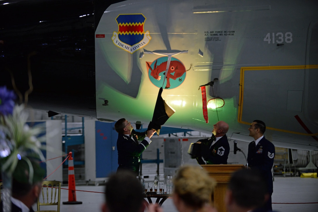 Airmen reveal nose art on aircraft at centenary event