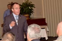 Jeffrey Allen, Air Force Sustainment Center executive director, served as the key note speaker during the Emerging Supervisor Development Program Graduation in the Heritage Club Ballroom here Aug. 17. The program allows employees to get supervisor training before jumping head first into a supervisory position. The fairly new program, is a whole new way of developing supervisors on base. (U.S. Air Force photo/RAYMOND CRAYTON Jr.)