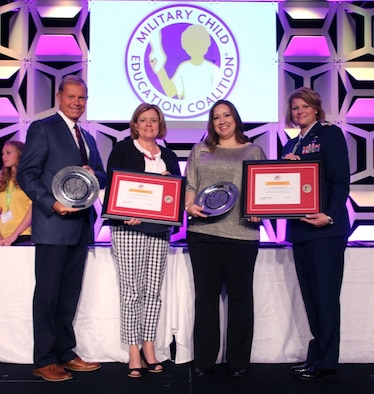 Holloman FSS accepts two awards for excellence