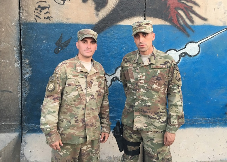 Master Sgts. Scott Hose and Daniel Hose, twin brothers, are both deployed to Iraq in support of Combined Joint Task Force -Operation Inherent Resolve. CJTF-OIR is the global Coalition to defeat ISIS in Iraq and Syria.