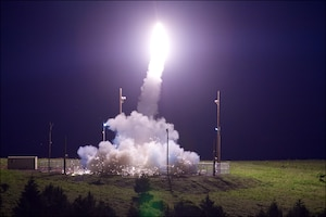 Missile interceptor launches