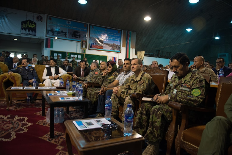 Afghan, Coalition service members celebrate Afghan Air Force anniversary.