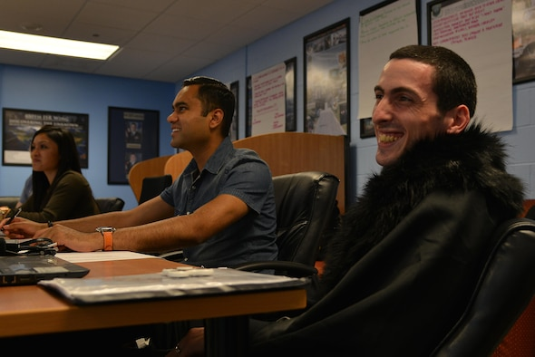 Langley Air Force Base Airman Leadership School students discuss diversity on Joint Base Langley-Eustis, Va., Aug. 4, 2017.