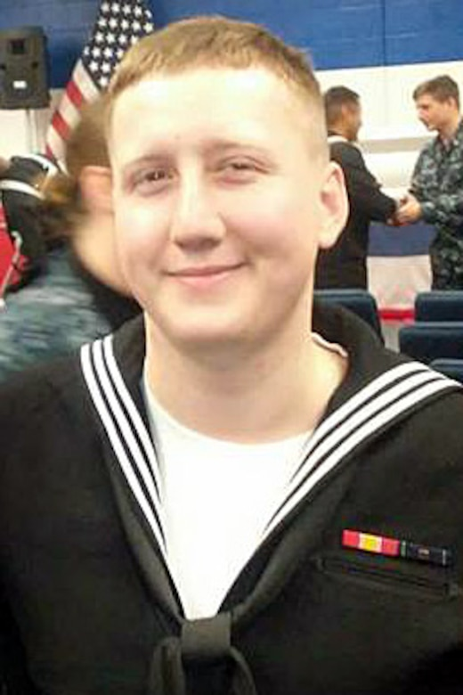 Interior Communications Electrician 3rd Class Logan Stephen Palmer, 23, from Decatur, Illinois