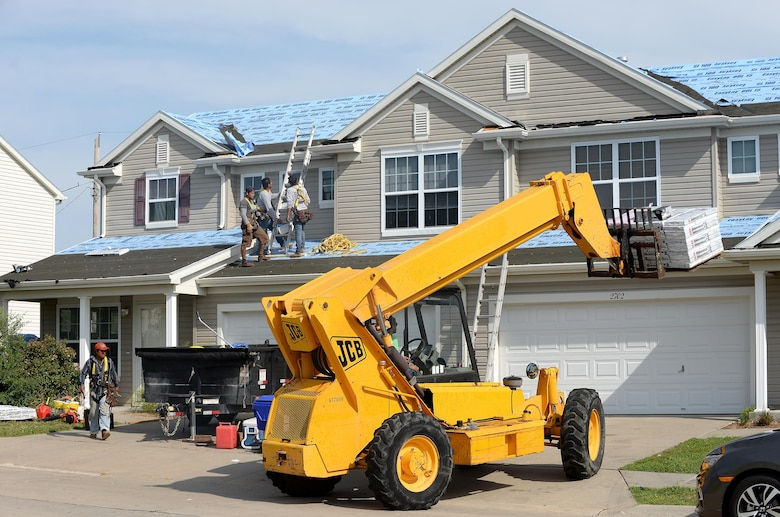 Base housing repairs making progress following June storms