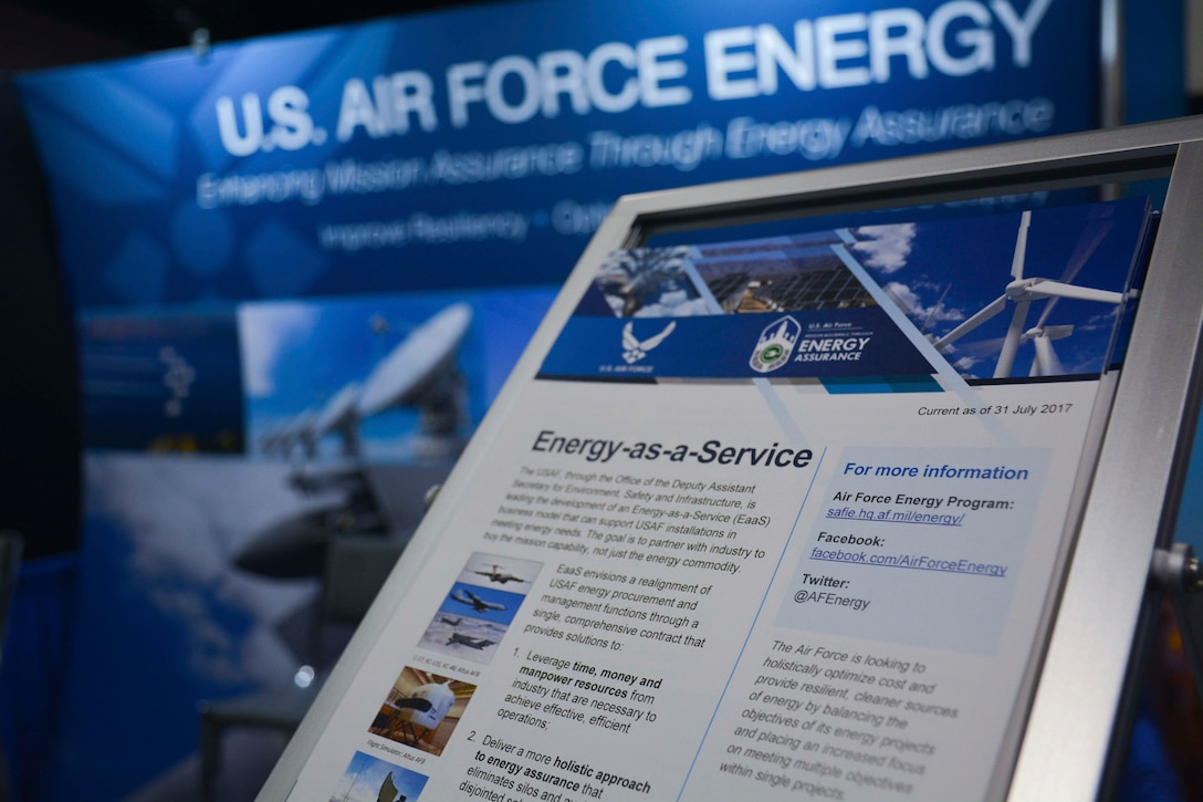 Photo of Air Force Energy booth at the 2017 Energy Exchange