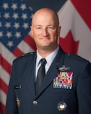 Official Portrait of USAF BGen Christopher Ireland taken at 17 Wing, Winnipeg on August 16, 2017.