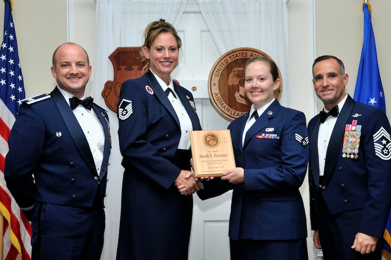 The Commandant award is given to the student who most exemplifies professional military qualities and is chosen by their peers, their primary instructors, and the ALS commandant.
