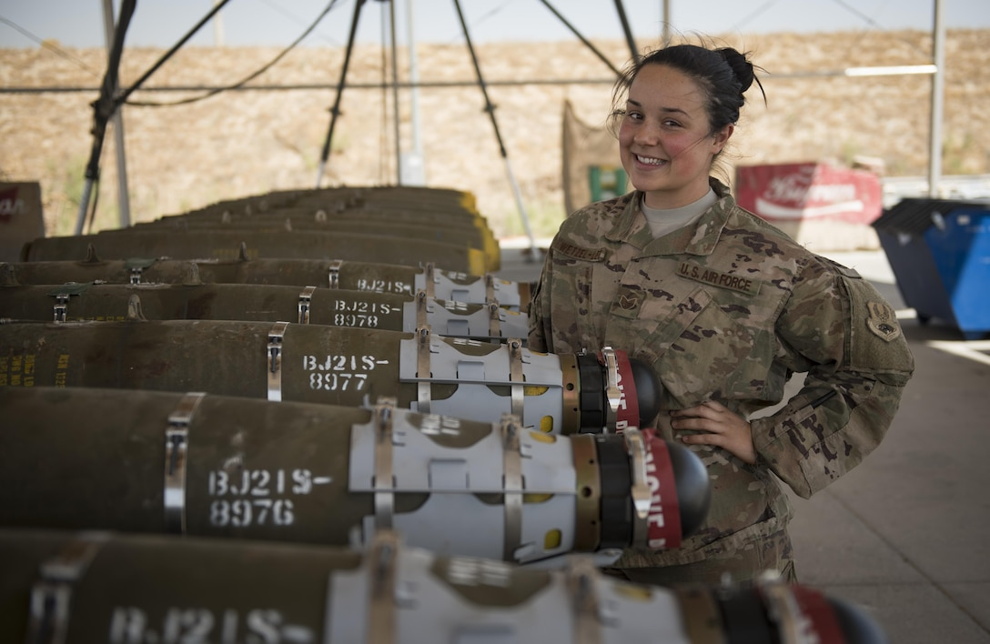 Staff Sgt. Ahbree Wetzel-Lee is a munitions systems specialist assigned to the 455th Expeditionary Maintenance Squadron, Bagram Airfield, Afghanistan.
