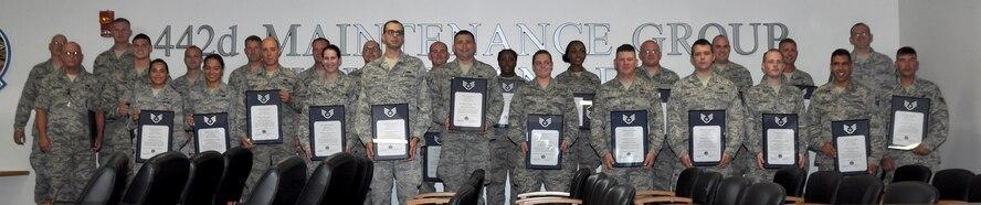 442d Maintenance Group NCO/SNCO induction ceremony