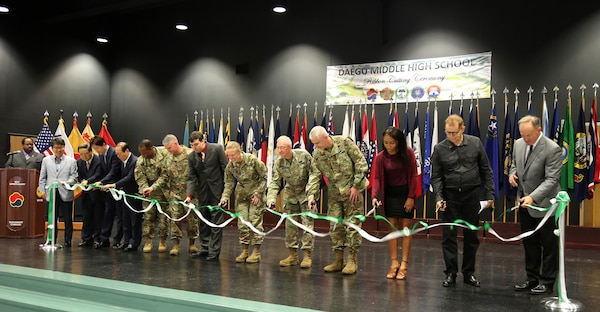 Daegu MS/HS ribbon cutting ceremony