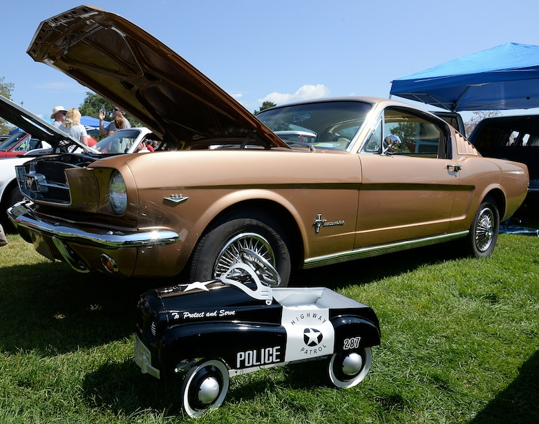 Cars you drive and cars you pedal were present during the car show. (U.S. Air Force photo by Alex R. Lloyd)