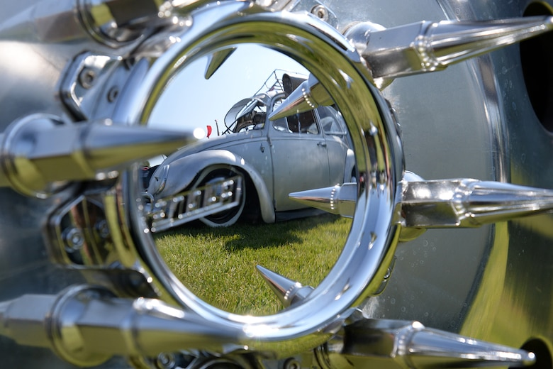 Chrome and reflections were everywhere at the annual Ogden Air Logistics Complex summer picnic and car show held Aug. 10 at Centennial Park, Hill Air Force Base, Utah.  (U.S. Air Force photo by Alex R. Lloyd)