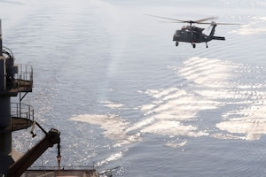 Deck-landing training in Arabian Gulf