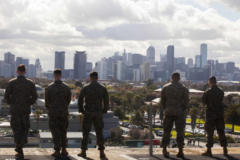 31st MEU, BHR arrive in Melbourne for the first U.S. Navy port call in years
