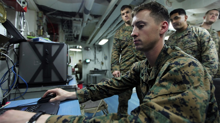 Award-winning engineering team keeps Marines connected while afloat