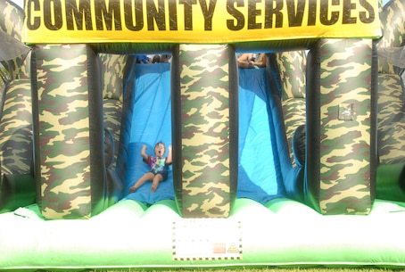 On August 18, 2017 MCES held a Kids Rock Day which allowed the MCES Marines and civilians the opportunity to bring their children to the Command. As part of the days events, three inflatable playgrounds were set up.