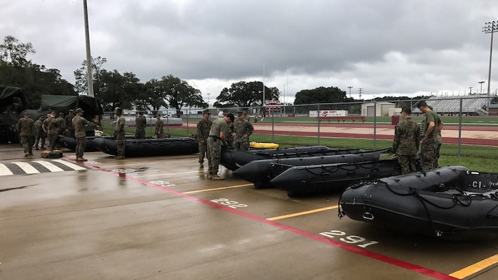 4th Reconnaissance Bn. executes rescue operations during Hurricane Harvey