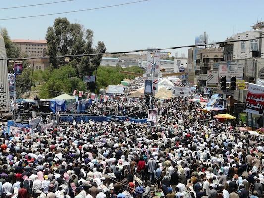 Protests in Sanaa, Yemen in April 2011