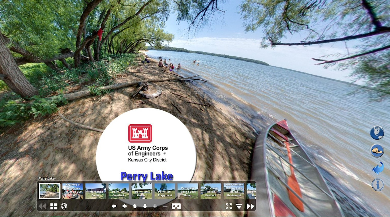 Take a virtual tour of Perry Lake in Kansas.